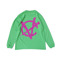 C-NARCHY LOGO L/S TEE (ロングスリーブTシャツ) Lime Green